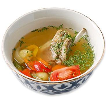 Кийма-шурпа (суп с фрикадельками)