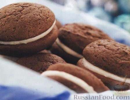 Кофейное бисквитное печенье