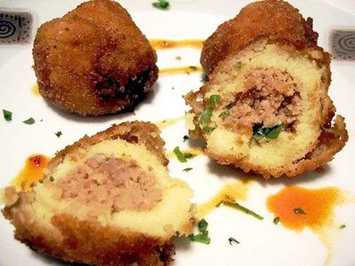 Крокеты картофельные с мясом