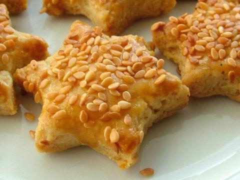 Круглое соленое печенье
