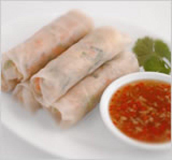 Кулечки из рисовой бумаги с лососем