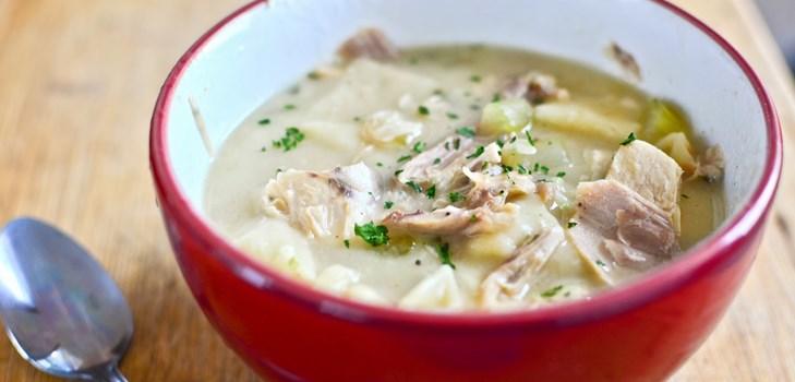 Куриный суп с оригинальными клецками