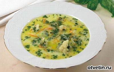 Молочный суп с капустой
