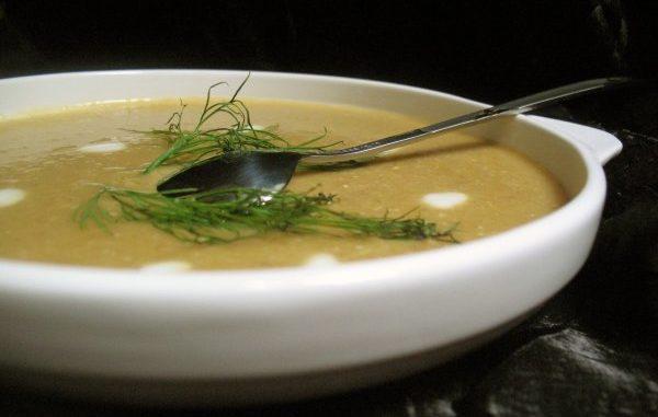 Овощной суп-пюре с черносливом