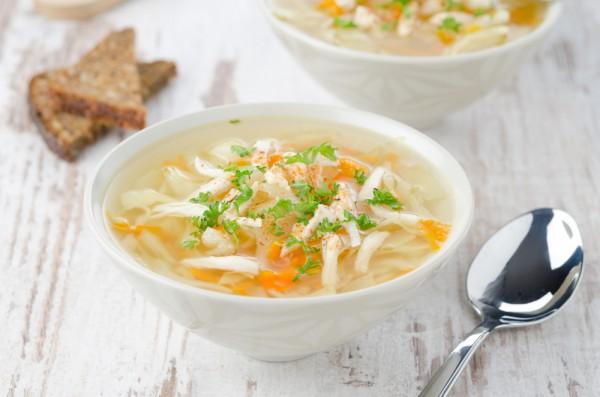 Овощной суп с лапшой