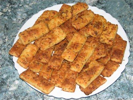 Печенье соленое с брынзой