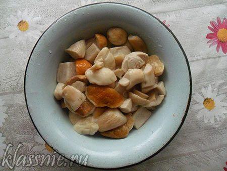 Пельмени с начинкой из свежих грибов и помидоров