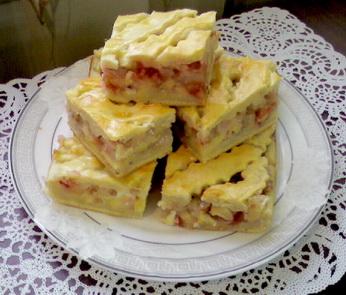 Пирог с фруктовой начинкой ассорти