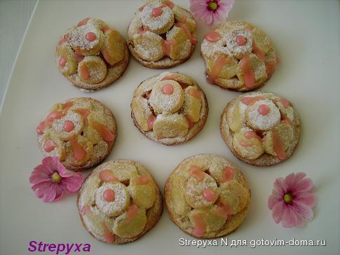 Пирожные «Яблоневый цвет»