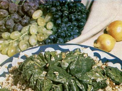 Плов с голубцами из виноградных листьев (коваток-палов)