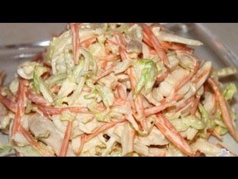 Салат из кальмаров и белокочанной капусты