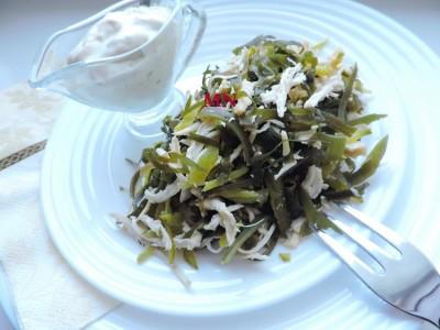 Салат из морской рыбы с соевым сыром