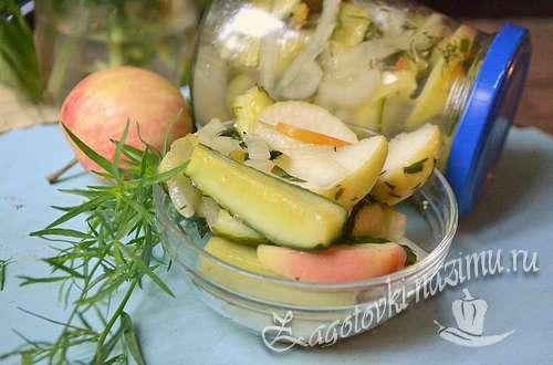 Салат из огурцов с эстрагоном (консервирование)