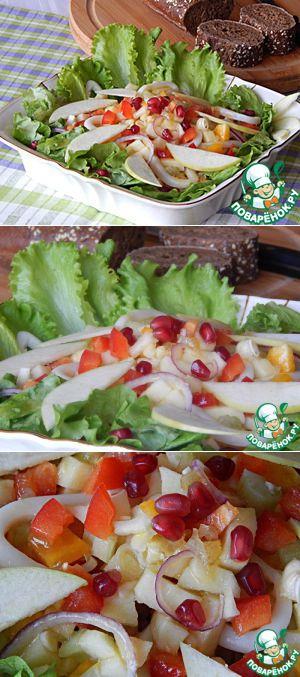 Салат из сома с горчичным соусом