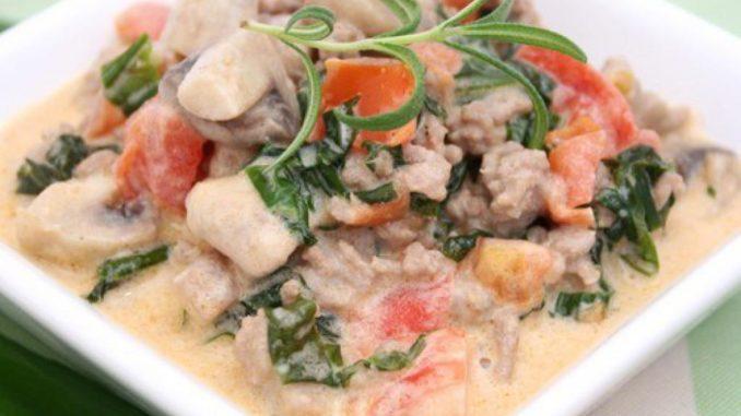Салат с белыми грибами и арахисом
