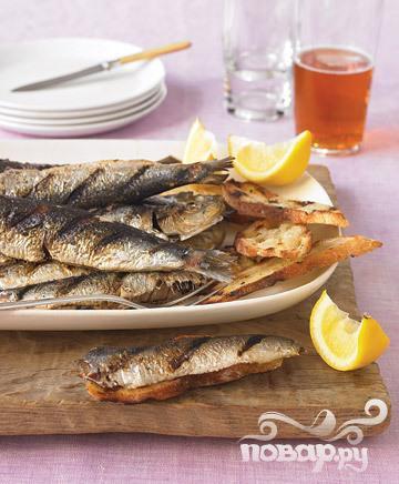 Сардины, жаренные в тесте (Тунис)