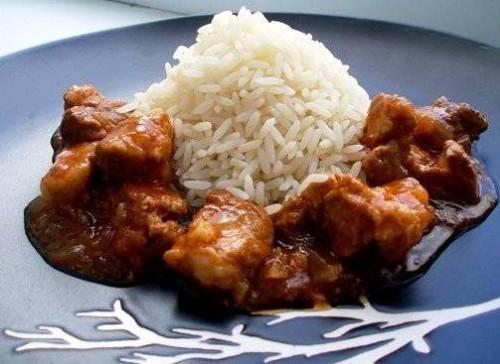 Шашлык из баранины с рисом