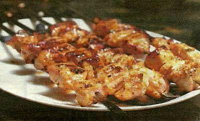 Шашлык из курицы в маринаде из грецких орехов