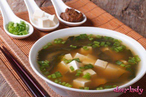 Суп мисо с рыбой и тофу