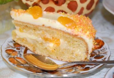 Торт «Мандариновый»