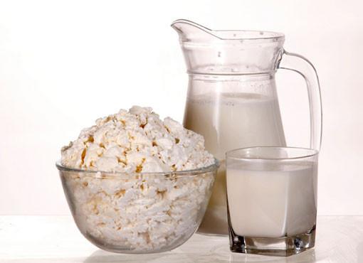 Творог со сметаной, молоком
