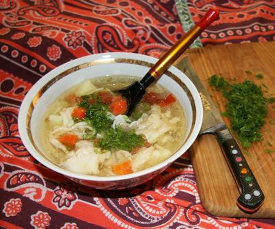 Угро (суп с фрикадельками и лапшой)