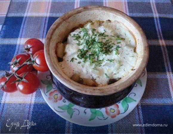 Ушное (мясное блюдо с овощами в горшочках)