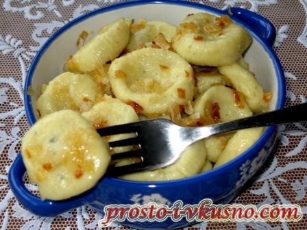 Вареники ленивые с картофелем