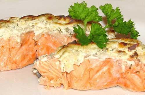 Закуска из рыбы с помидорами