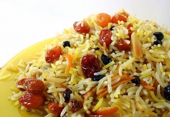Сладкий плов (рис с черносливом)