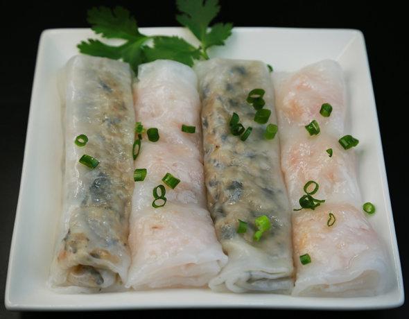 Трубочки из рисовой бумаги с зеленью