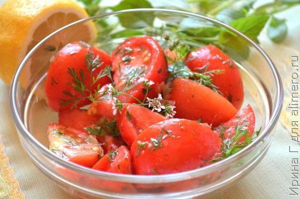Закуска из помидоров и имбиря