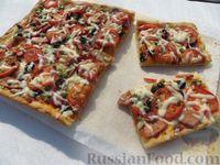 Грибы, запеченные на тесте (Pizza di Gennaro)