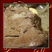 Печень, запеченная с чесноком и салом