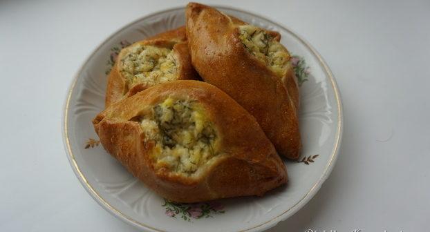 Пирожки бездрожжевые с зеленью