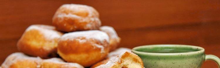 Пончики жареные с вареной сгущенкой
