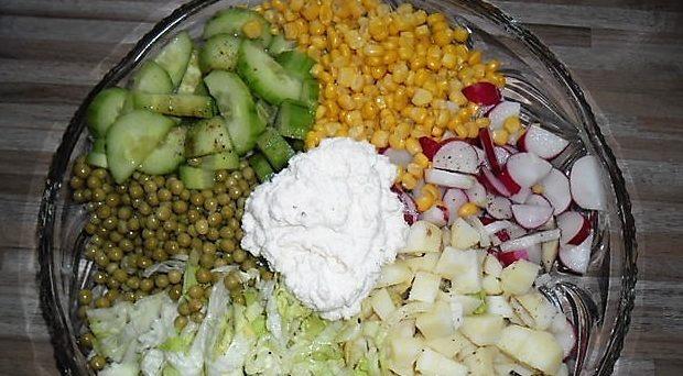 Еда для поста. Легкий овощной салат.