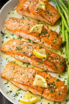 Филе лосося в лимонно-фисташковом масле