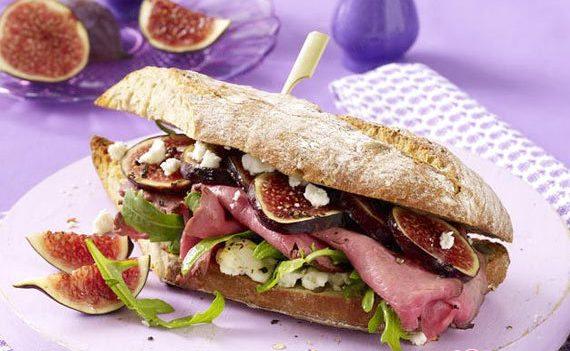 Горячий сэндвич с инжиром