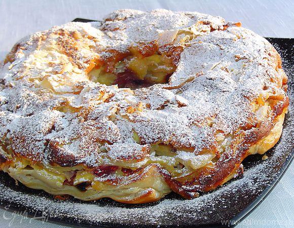 Яблочно-ягодный десерт