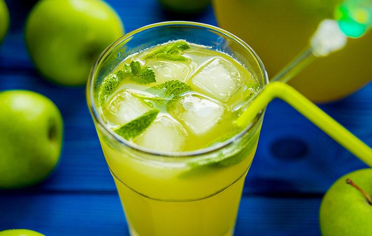 Яблочно-мятный лимонад
