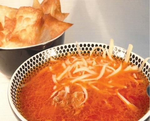 Куриный суп с лавашем