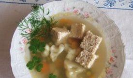 Куриный суп с паштетом