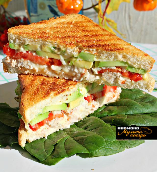 Сэндвич итальянский с курицей и сыром