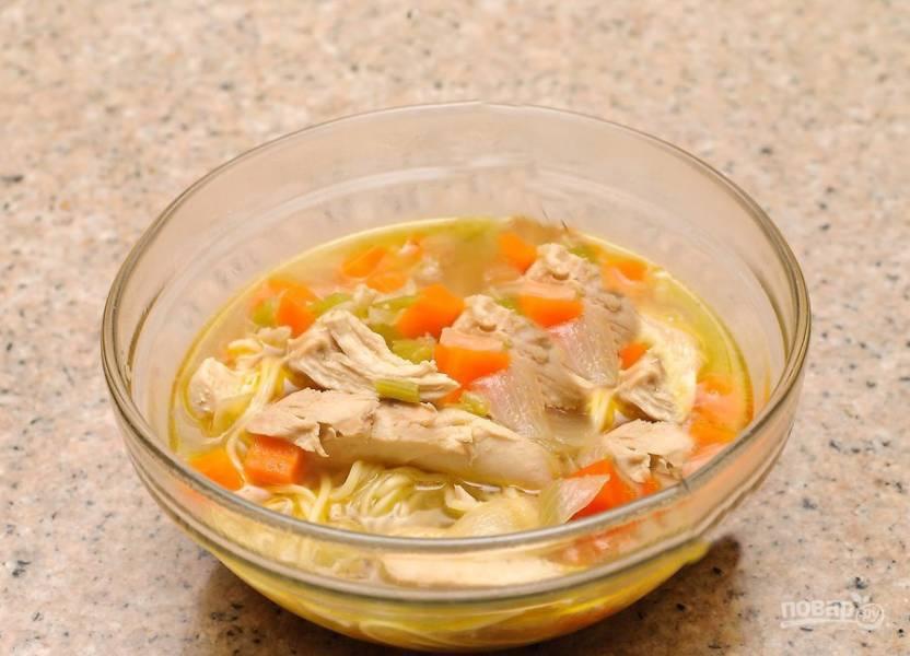 Суп деревенский куриный с вермишелью